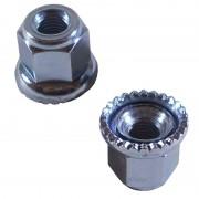 Écrous crantés (avec rondelle) de fixation axe de roue