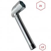 Clé à bougie 21mm + 13mm hexagonale type canne