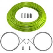 kit câble gaine de frein téflon vert avant arrière vélo route vtt universel