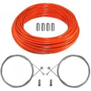 kit câble gaine de frein téflon orange avant arrière vélo route vtt universel