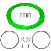 kit câble gaine de frein téflon vert fluo avant arrière vélo route vtt universel