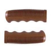 Poignée vintage marron 110mm