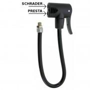 Raccord double de pompe à pied avec flexible PRESTA SCHRADER